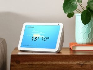 AmazonのEcho show8で天気を解説