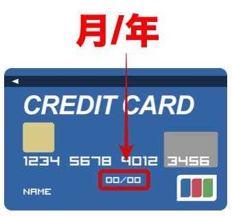 クレジットカードの有効期限を確認している
