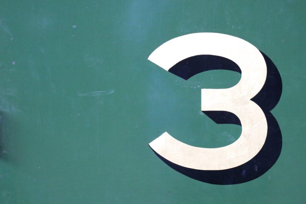 数字の3の表記