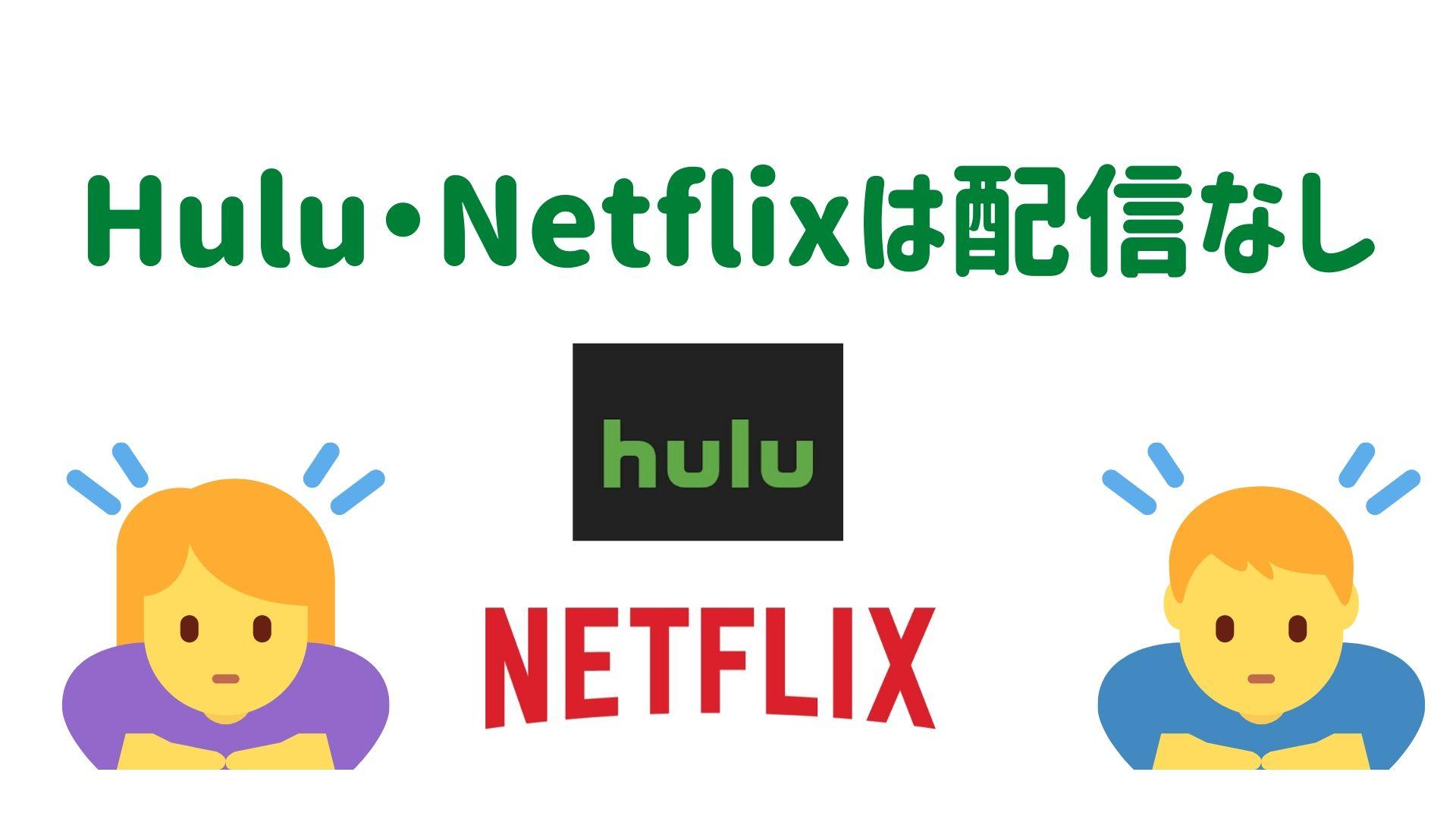 HuluとNetflixはコンフィデンスマンJPは配信していない