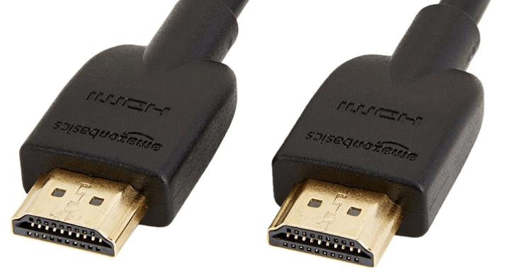 HDMIのケーブル接続の写真