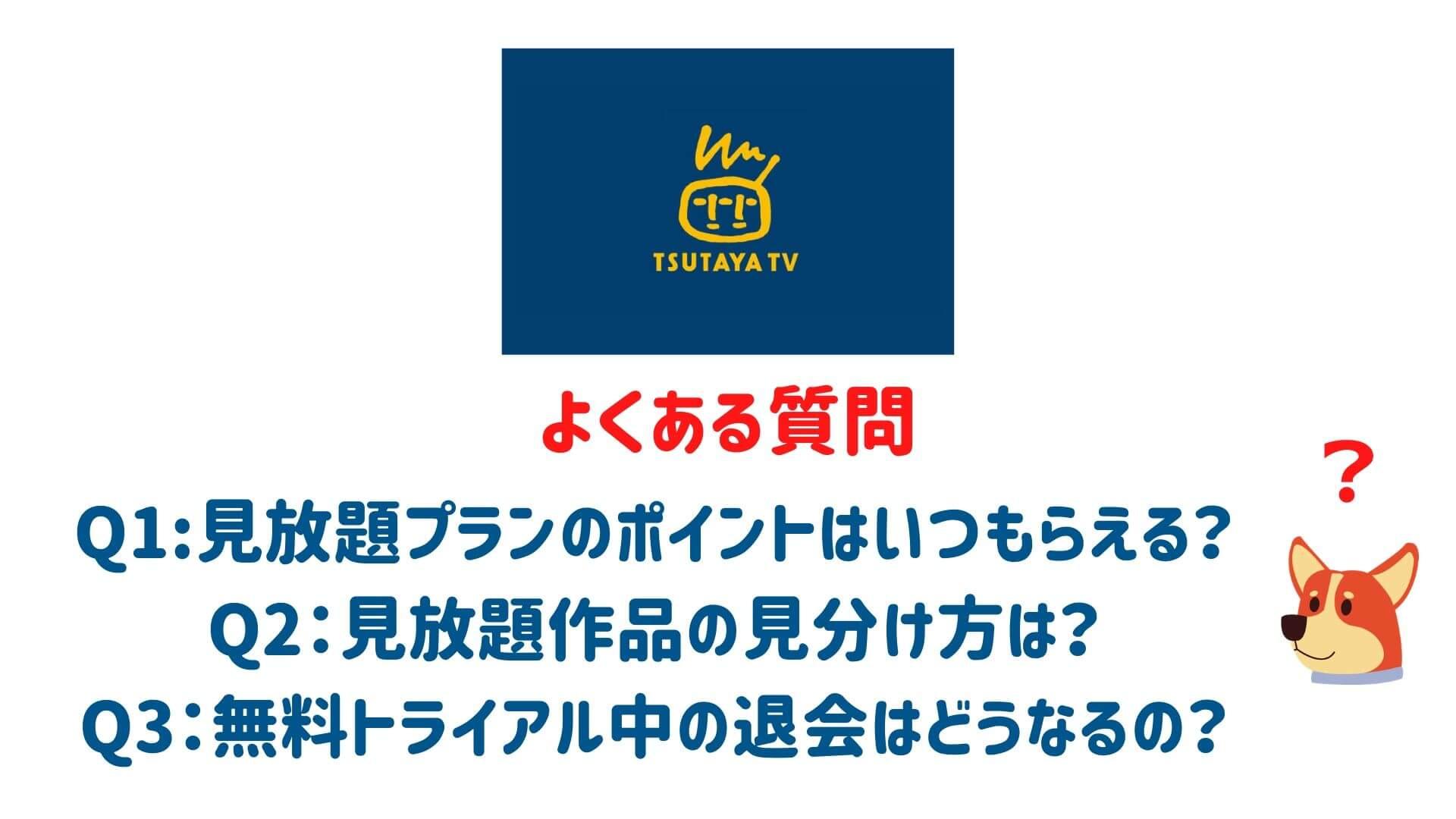 TSUTAYA TVのよくある質問しついて解答している